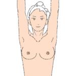 2.バンザイをするように手を広げる