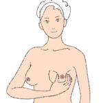5.乳頭の周囲をつまむように押す